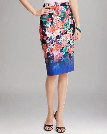 Nanette Leopore Skirt Wipeout Floral $298