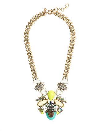 J.Crew Symmetrical Stone Statement Necklace $135
