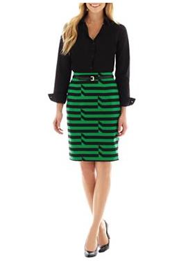 JC Penny Worthington Long Sleeve Essential Shirt and Skirt $9.99-$24
