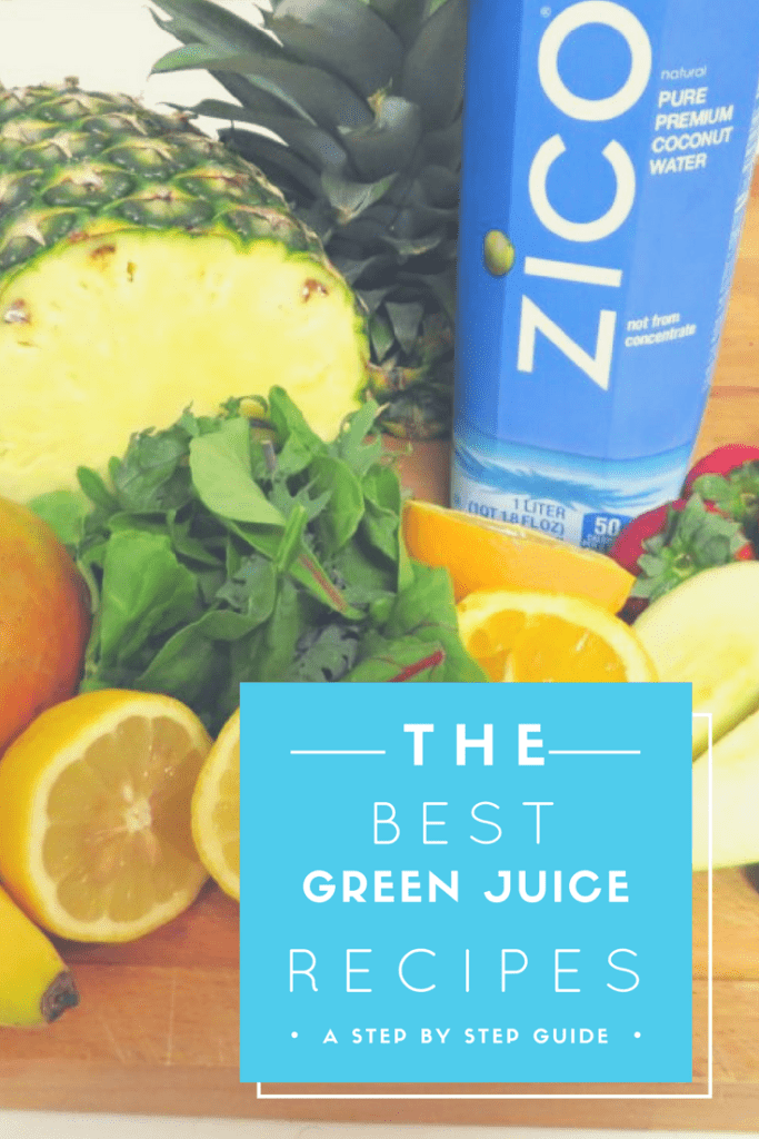 Easy Green Juice Recipe with Fresh, Organic Fruit and Coconut Water