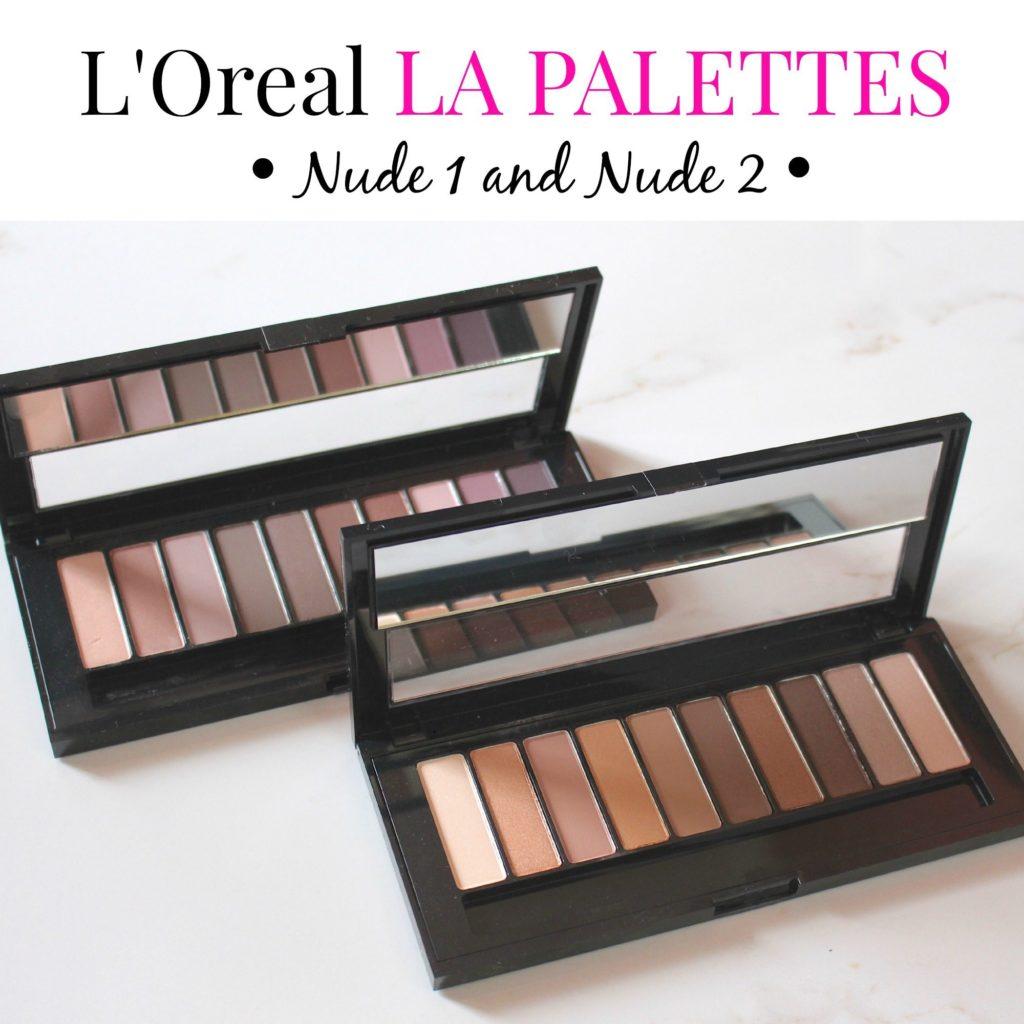 Review || Loreal La Palette Nude 1 + Comparison to Urban