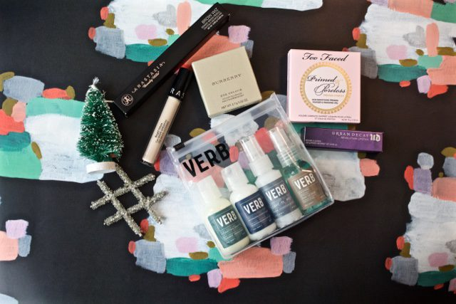 Assortment of beauty products