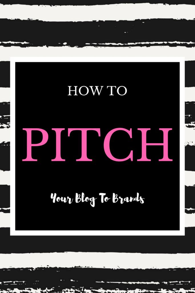How To Pitch Your Blog To Brands