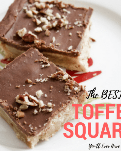 The Best Toffee Squares You'll Ever Have