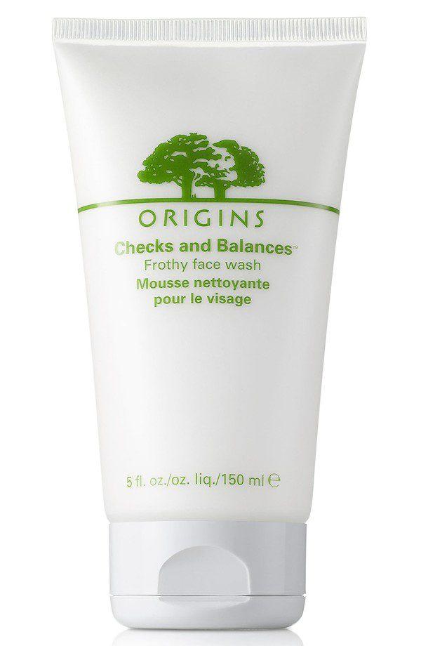 Origins Checks and Balances Frothy Face Wash, $22
