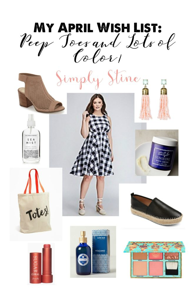 My April Wish List: Peep Toes and Lots of Color