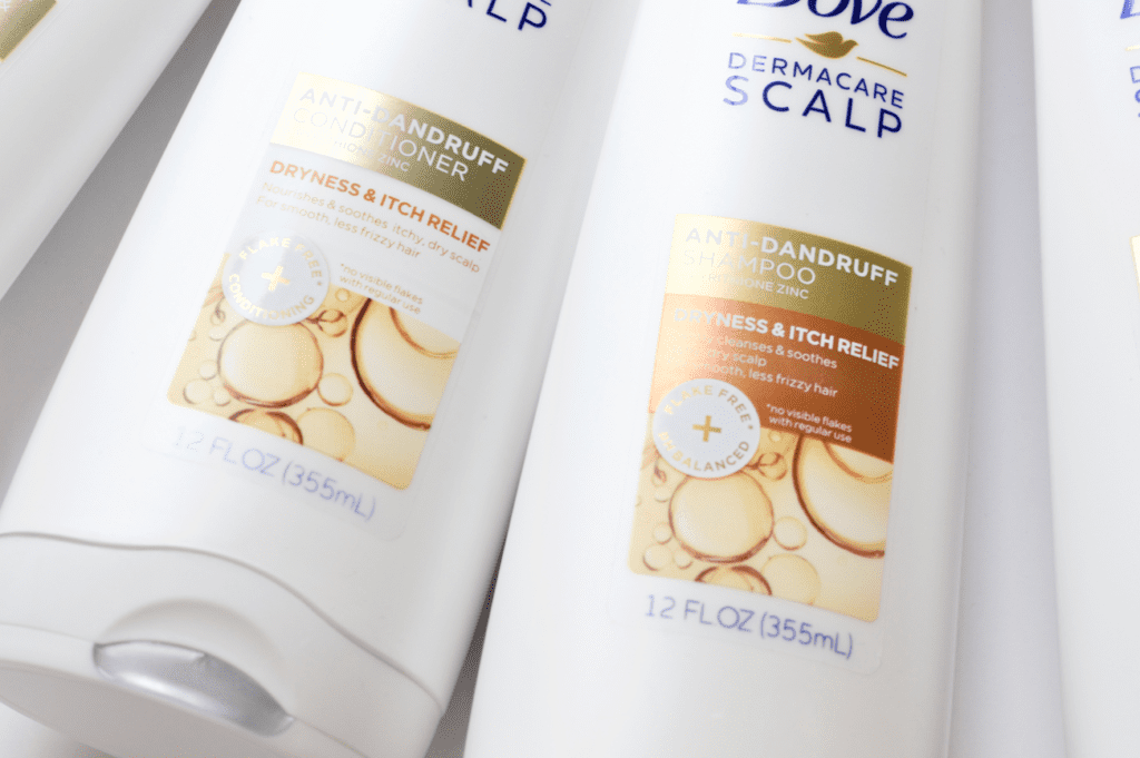 Dove DermaCare: Shampoo and Conditioner to help you have a healthy scalp
