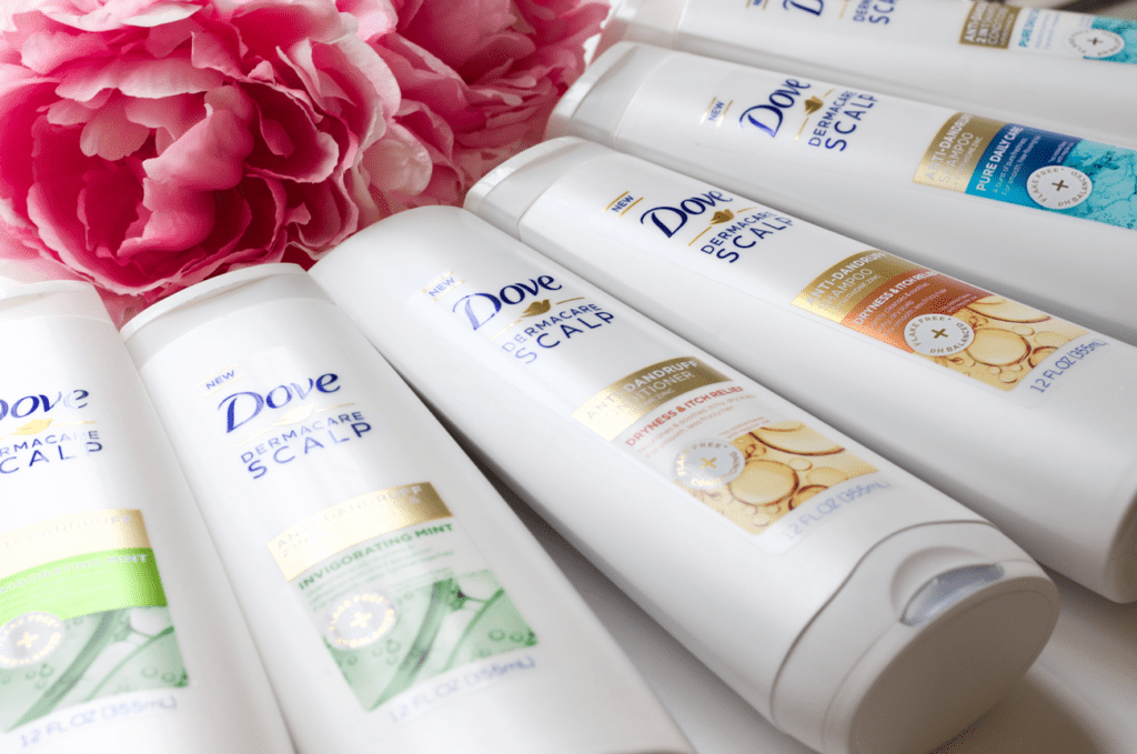 Dove DermaCare: Shampoo and Conditioner to help build a healthy scalp