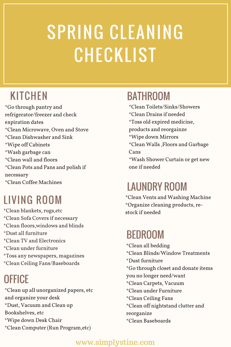 Some tips to getting your house clean and organized! Happy Spring Cleaning!