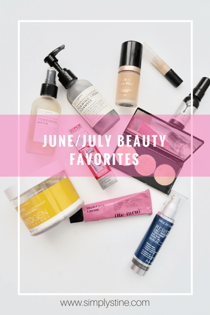June and July Beauty Favorites | These are my favorite beauty products that I've been using and wearing for the past two months long! | www.simplystine.com