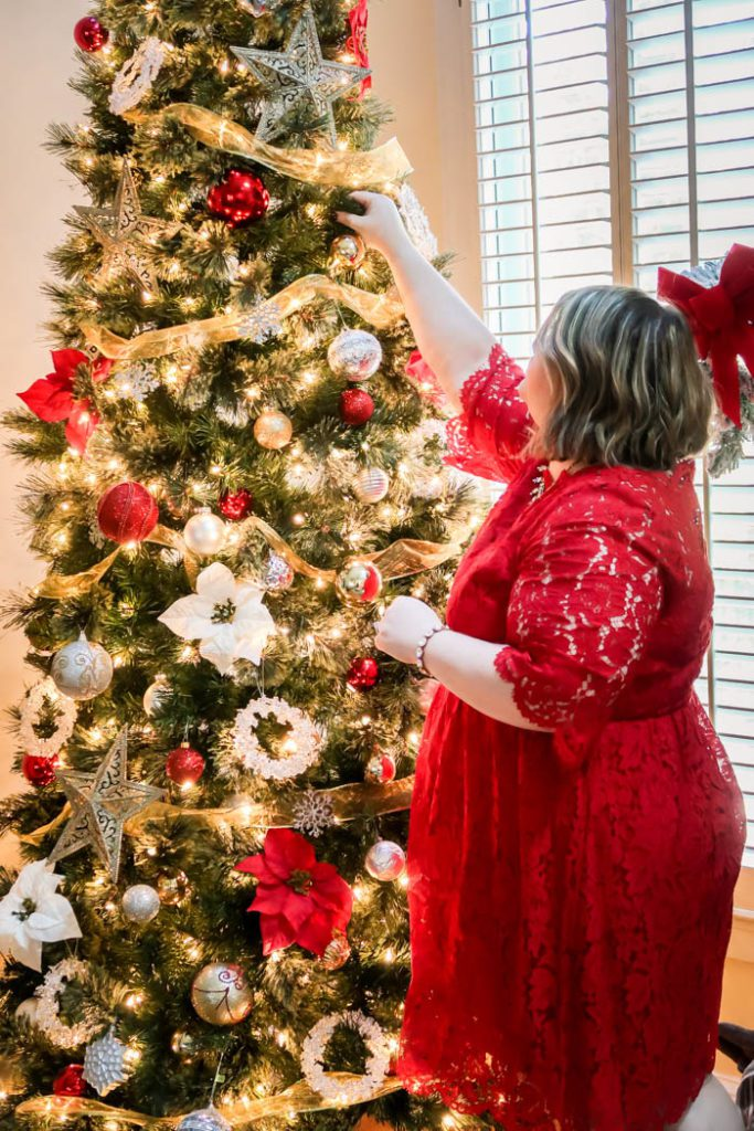 Holiday Party Dress: Scallop-Edge Lace Fit & Flare Dress From Lane Bryant