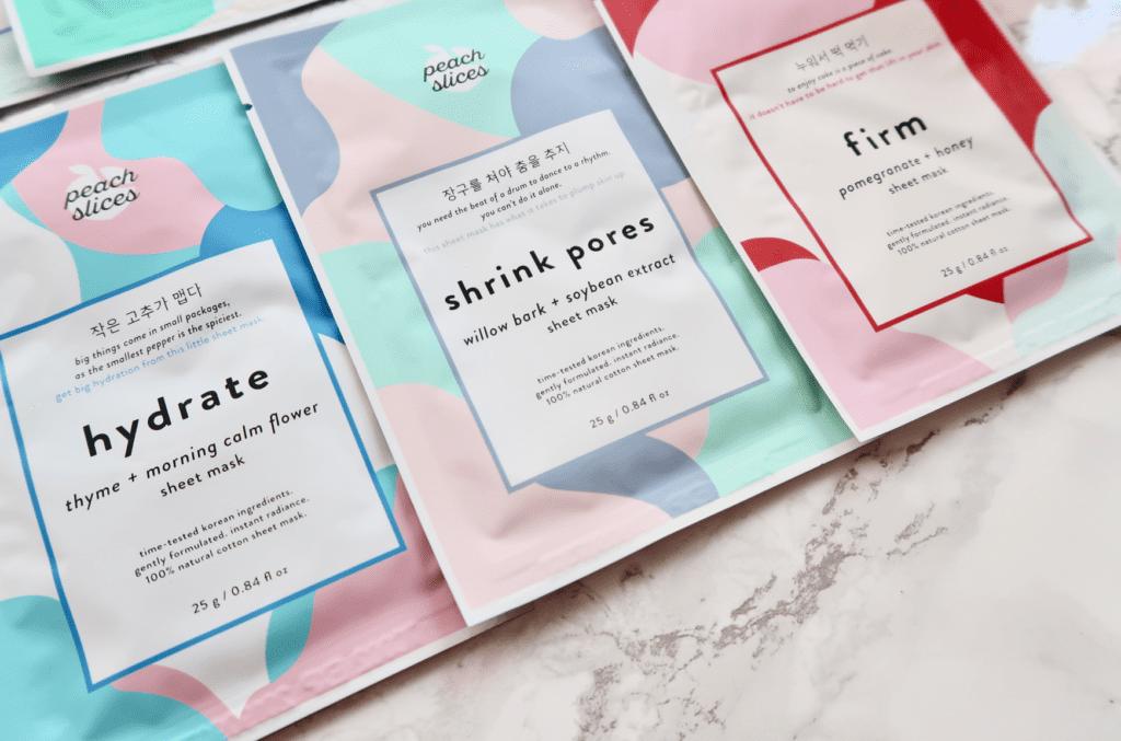 Peach Slices Sheet Masks