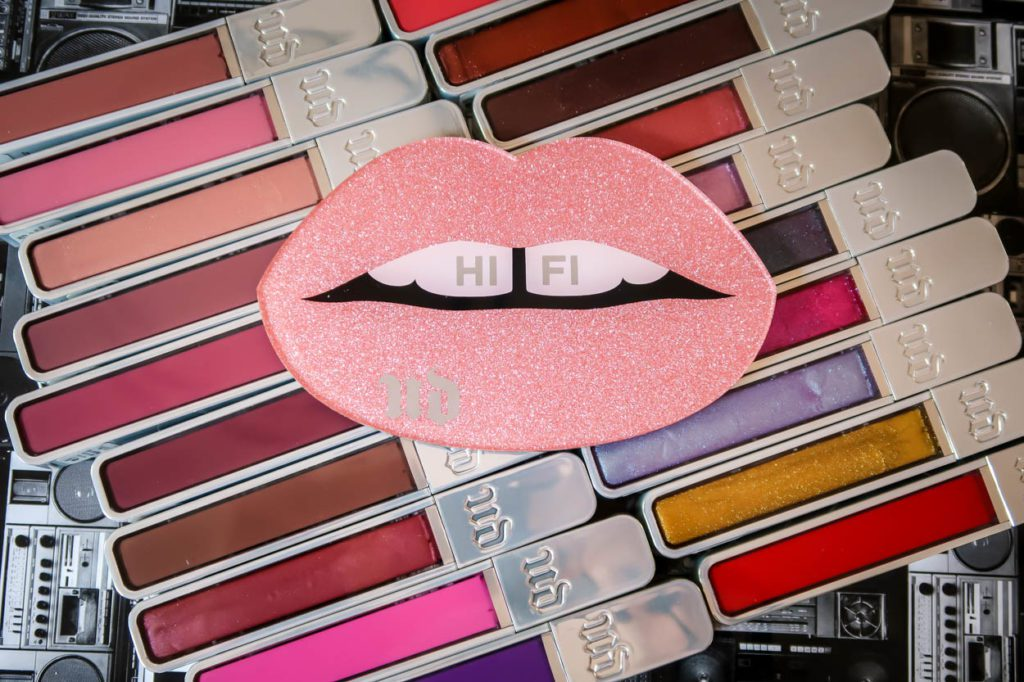 Lip Glosses with Lips On Top Of them That Says Hi Fi UD