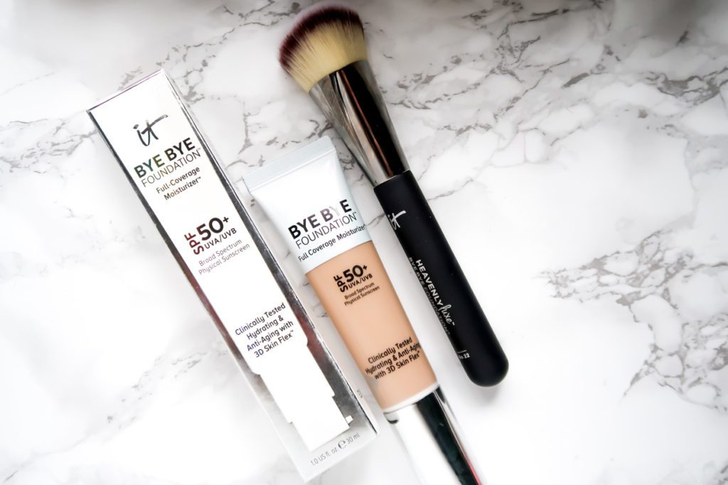 Beauty Products For Spring | It Cosmetics Bye Bye Foundation with Face Brush