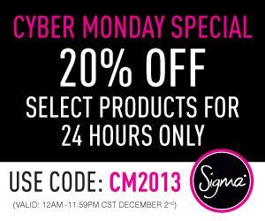 Sigma Beauty Cyber Monday Promotion