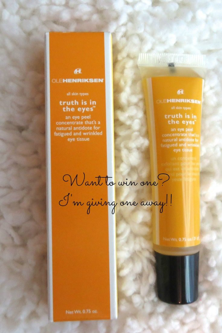 Ole Henriksen Truth Is In The Eyes Review and Giveaway (OVER)