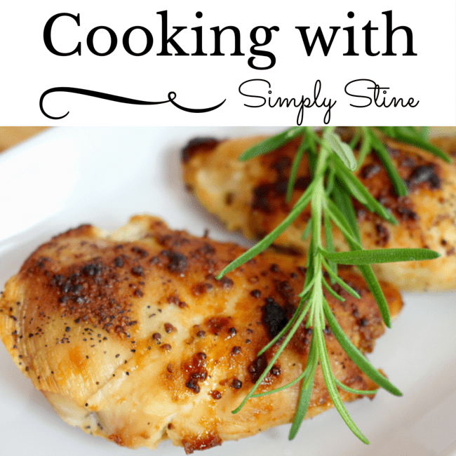 Cooking with Simply Stine: Maple Dijon Chicken