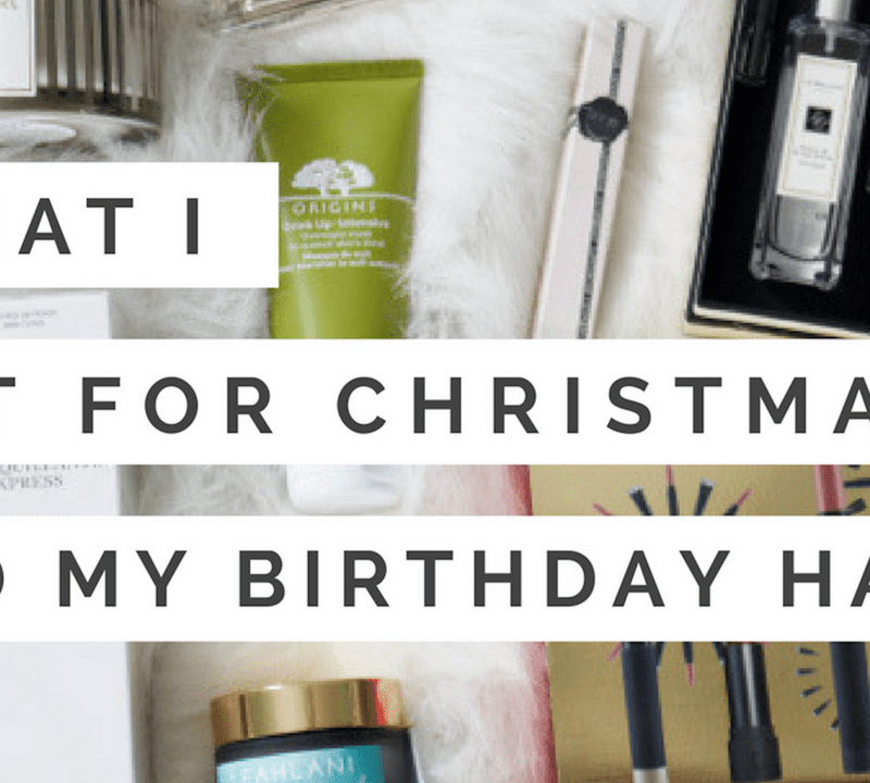 What I Got For Christmas And My Birthday Haul:YouTube Video