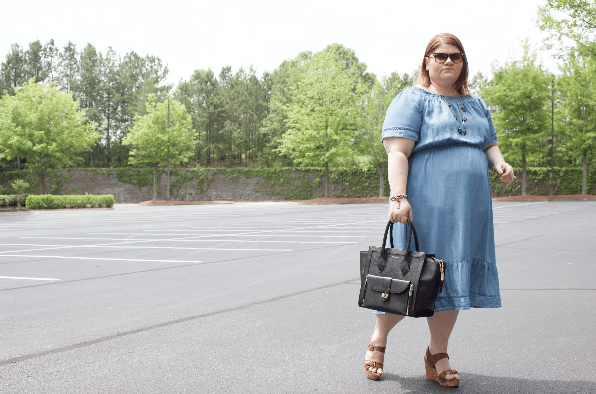 Off-The-Shoulder Chambray Chic   Simply Stine