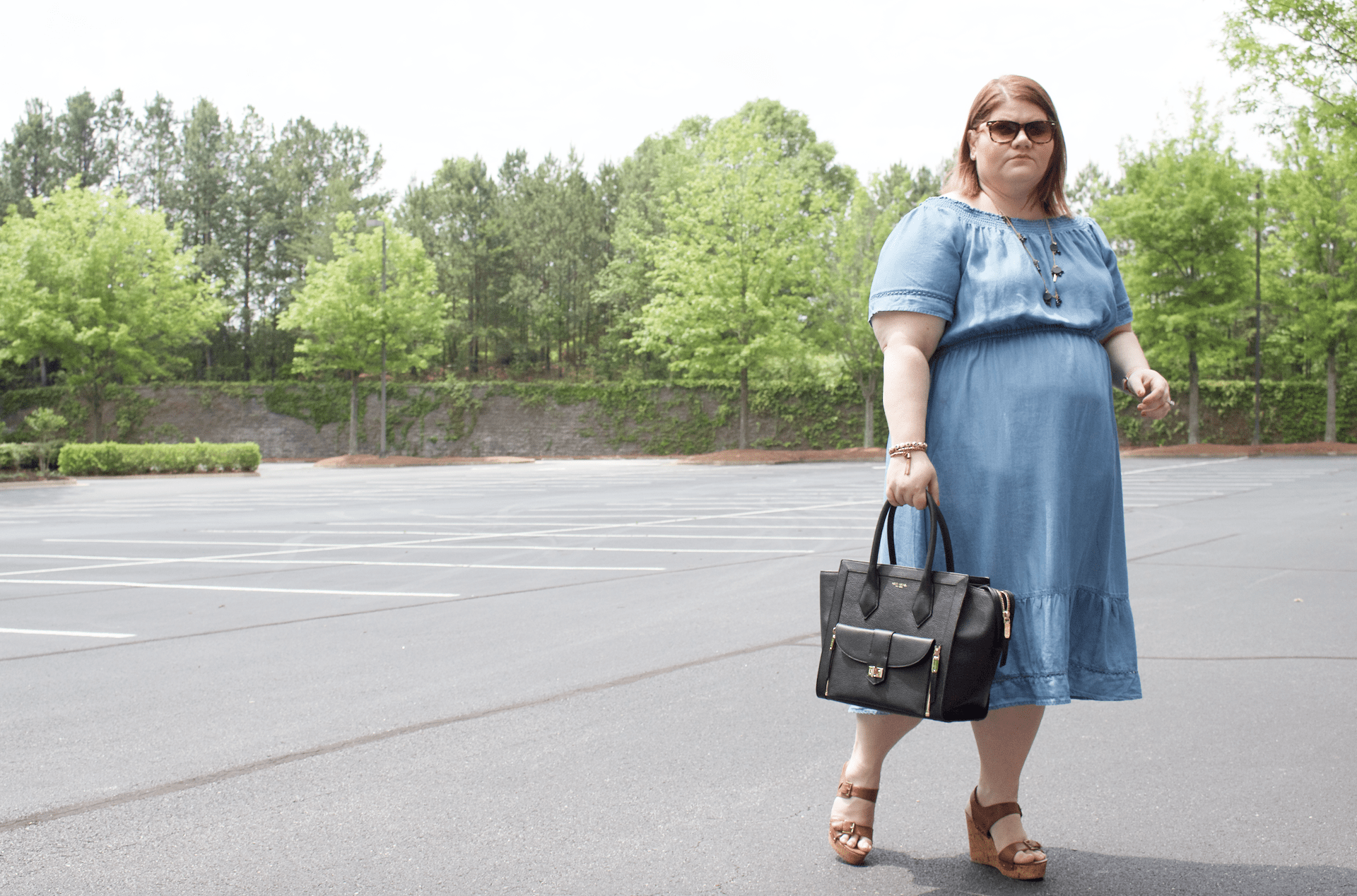 Off-The-Shoulder Chambray Chic | Simply Stine