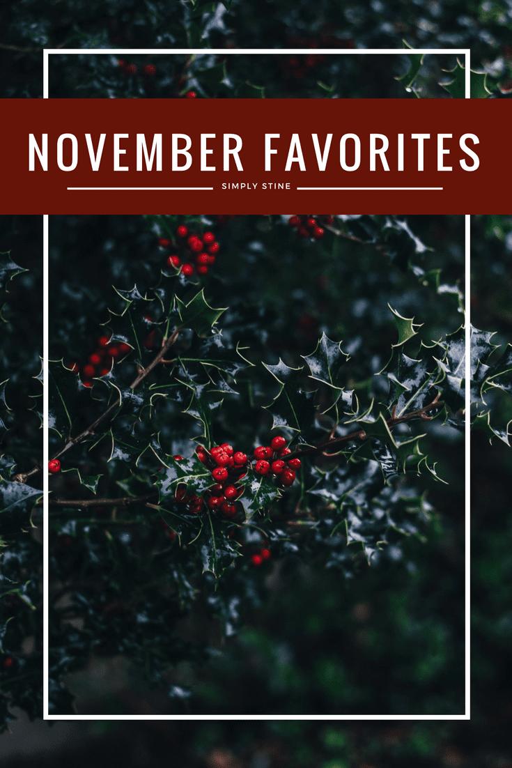 My November Beauty Favorites