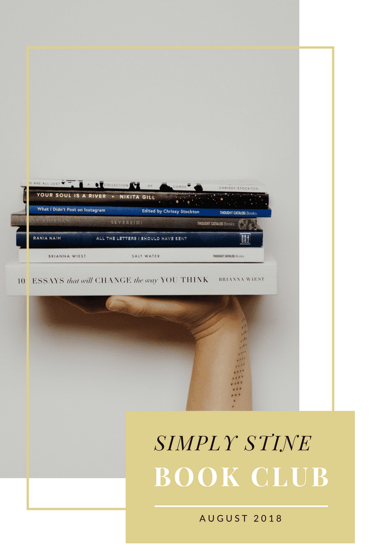 Simply Stine What I read in August! Lots of great books and I'm sharing my picks for September! #books #bookclub #bookworm