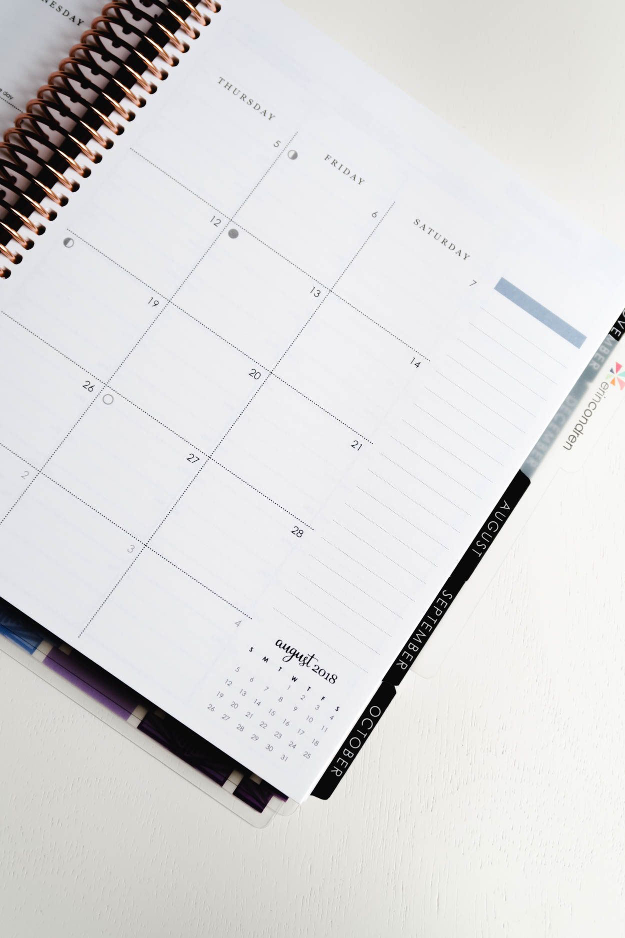 photo about Erin Condron titled Erin Condren Lifestyle Planner and Superior Year Handle