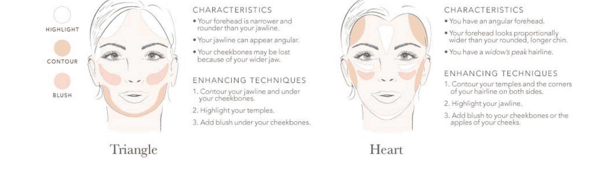 Face Shape: Triangle and Heart