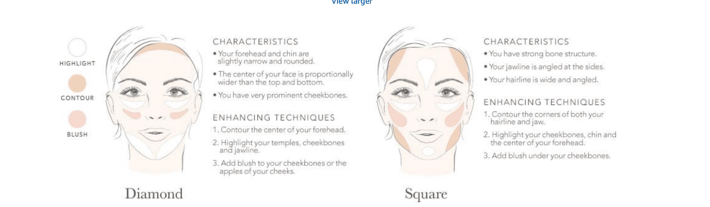 Face Shape Diamond and Square