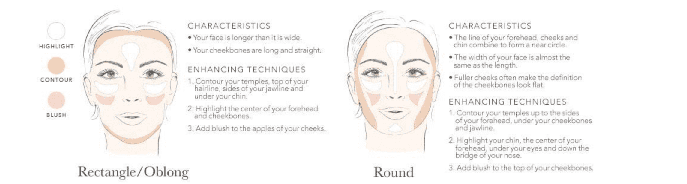 Face Shape Rectangle/Oblong and Round