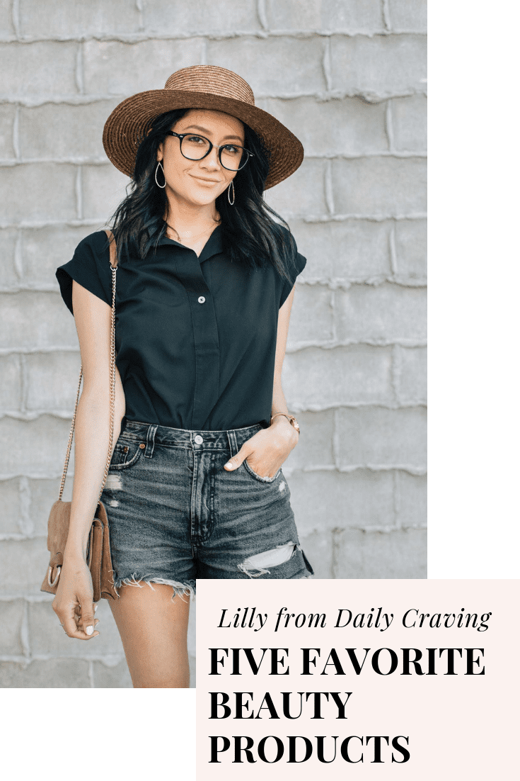 My Five Favorite Beauty Products with Lilly from Daily Craving.  She's a Houston Style Blogger who's sharing her favorite beauty products on Simply Stine! #Skincare #Makeup #Hair #AcneScarring #StyleBlogger