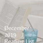 Reading List for December