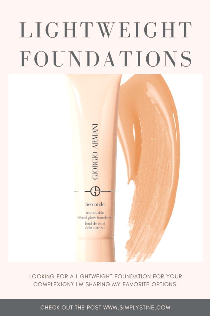 Sharing my favorite lightweight foundations.