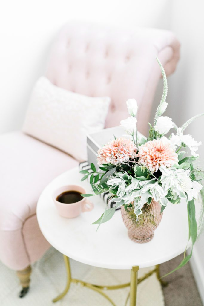 Monday Chit-Chat Flowers and pink chair